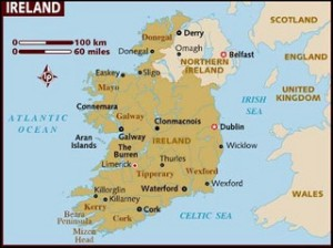 Map of Ireland by Michael 1952
